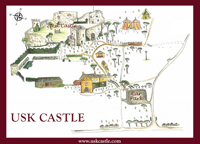 Graphic map of the castle