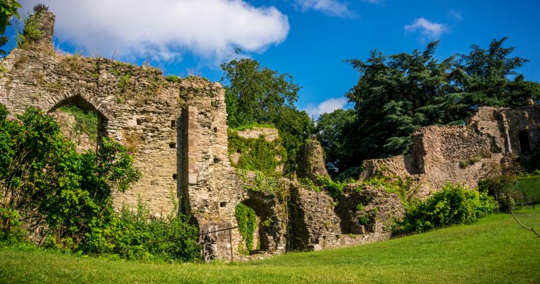 Usk Castle in Lockdown