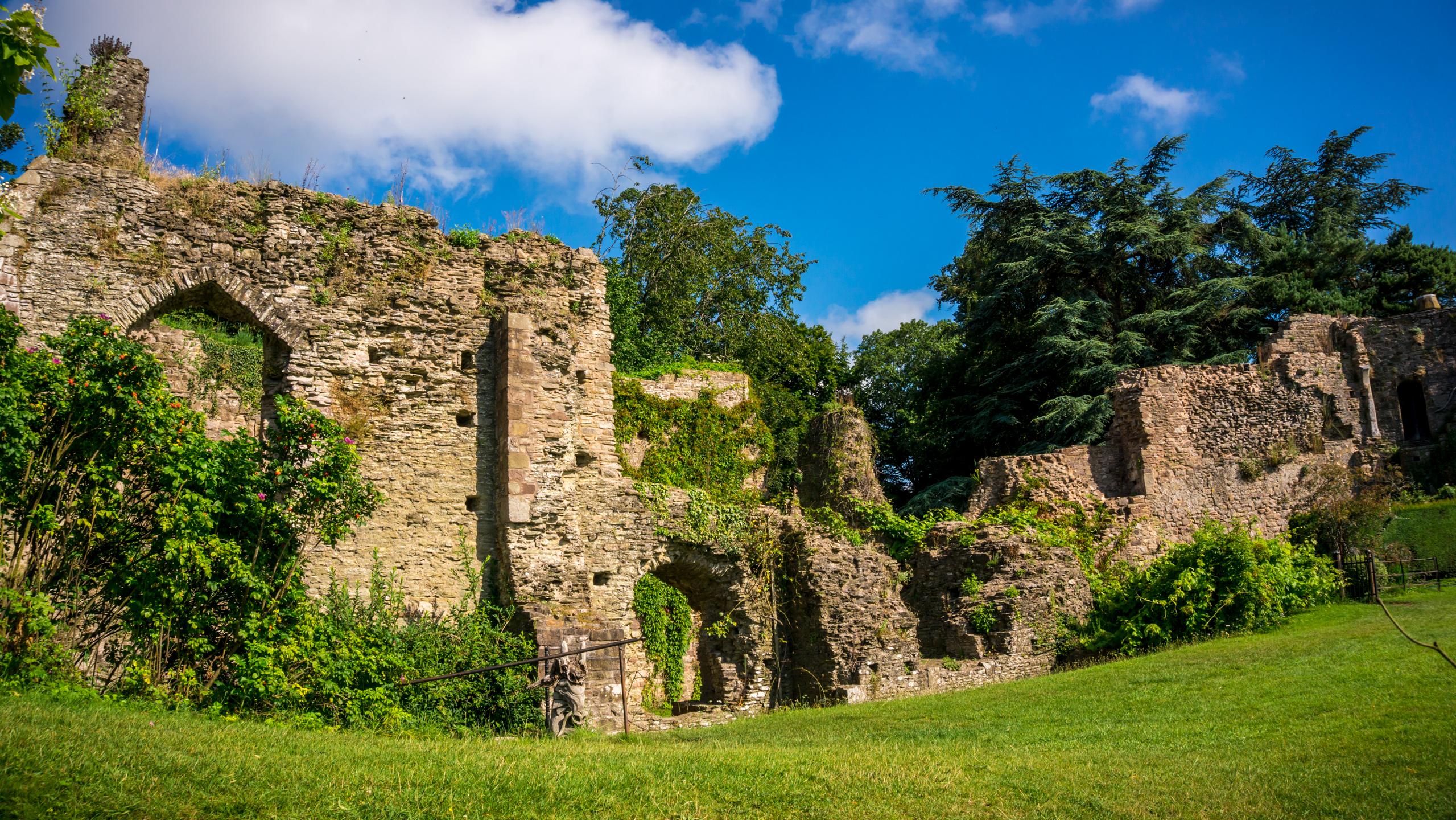 Usk Castle in Lockdown